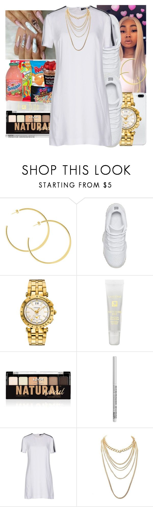"""MEDICINE X QUEEN"" by littydee ❤ liked on Polyvore featuring Versace, Lancôme, NYX, Versus and Charlotte Russe"