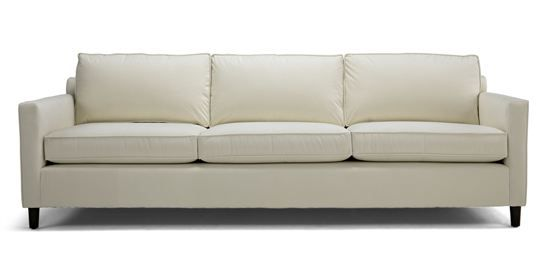 "Martin Sofa at MG+BW: Mid-century modern styling, very comfortable, 80"" wide option has two seat cushions (not three as shown in photo)."