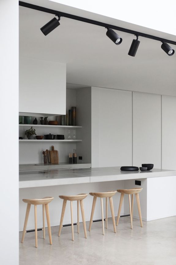 Best 25 kitchen track lighting ideas on pinterest track rolies dubois architecten are based in antwerp belgium and they make magic happen with task lightingtrack aloadofball Images