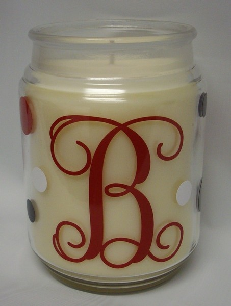 letter or monogram on a candle makes a nice gift