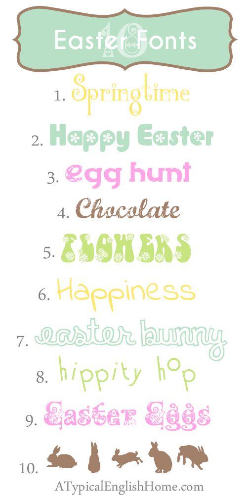 1) Black Flowers Blossom 2) Flower Bold 3) Flower Flow 4) Marcelle 5) LMS Hippy Chick 6) Indie Flower 7) Clementine Sketch 8) Cocktail 9) Kingthings Eggypeg 10) LP Rabbits