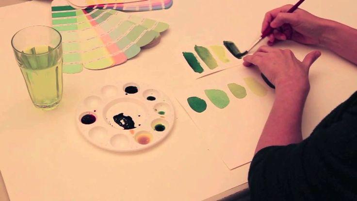 Grønne nuancer - Britta Johanson viser, hvordan man blander forskellige grønne nuancer