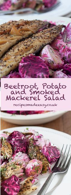 This Beetroot Potato and smoked Mackerel Salad makes a hearty main meal salad that can be enjoyed at any time of the year. The dressing is low fat but flavourful and the smoked mackerel contains lots of Omgea 3 oils making this a healthy mealtime choice.