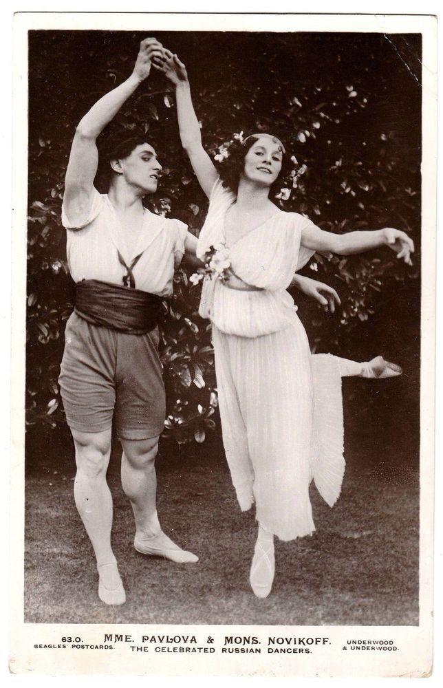 Ballet RP Postcard (J.Beagles 63 O) Ballerina Anna Pavlova & Mons Novikoff