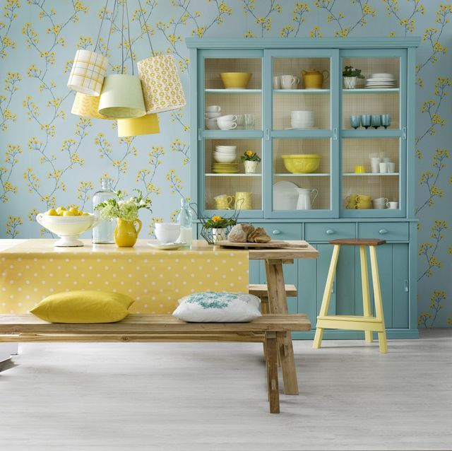 15 Beautiful Ways To Use Wallpaper In Your Kitchen Yellow Home