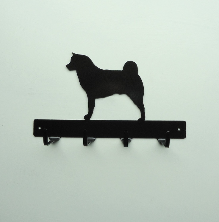 Akita Dog Metal Art Leash or Key rack, for my Nala Bear!