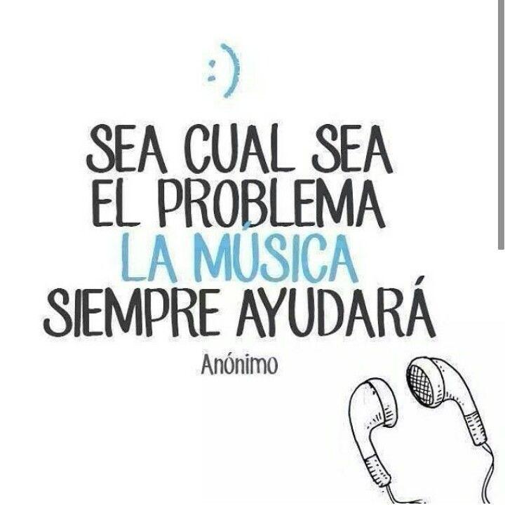 música... la solución a mis problemas | Frases | Pinterest
