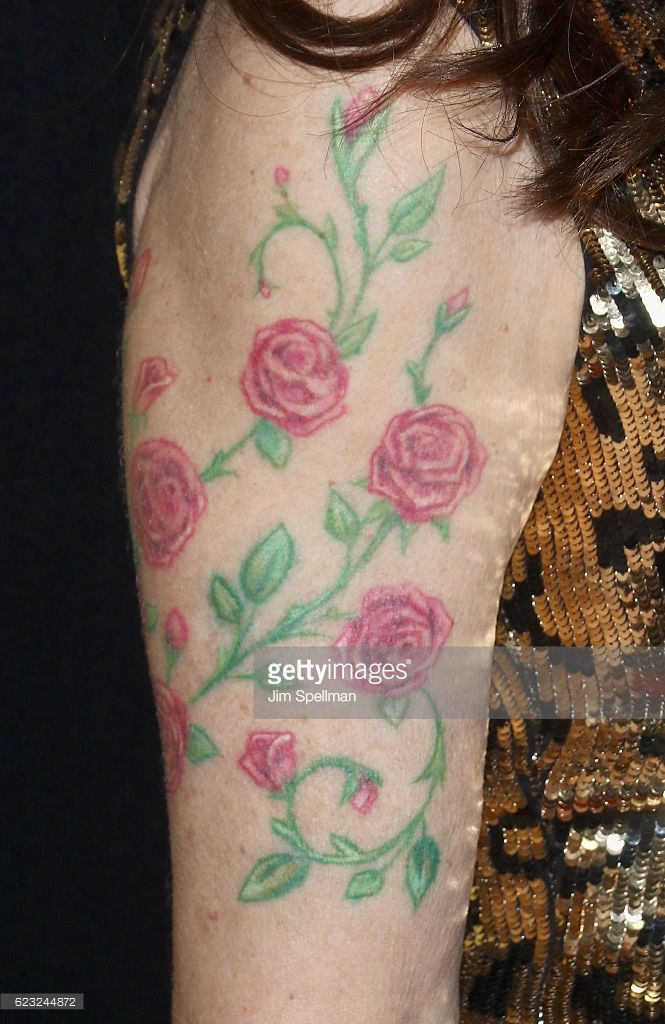 Actress Katey Sagal, tattoo detail, attends the premiere of 'Bleed For This' hosted by Open Road with Men's Fitness at AMC Lincoln Square Theater on November 14, 2016 in New York City.