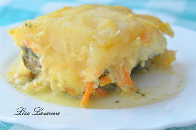 Пирог с рыбой и картофелем от Д.Оливера