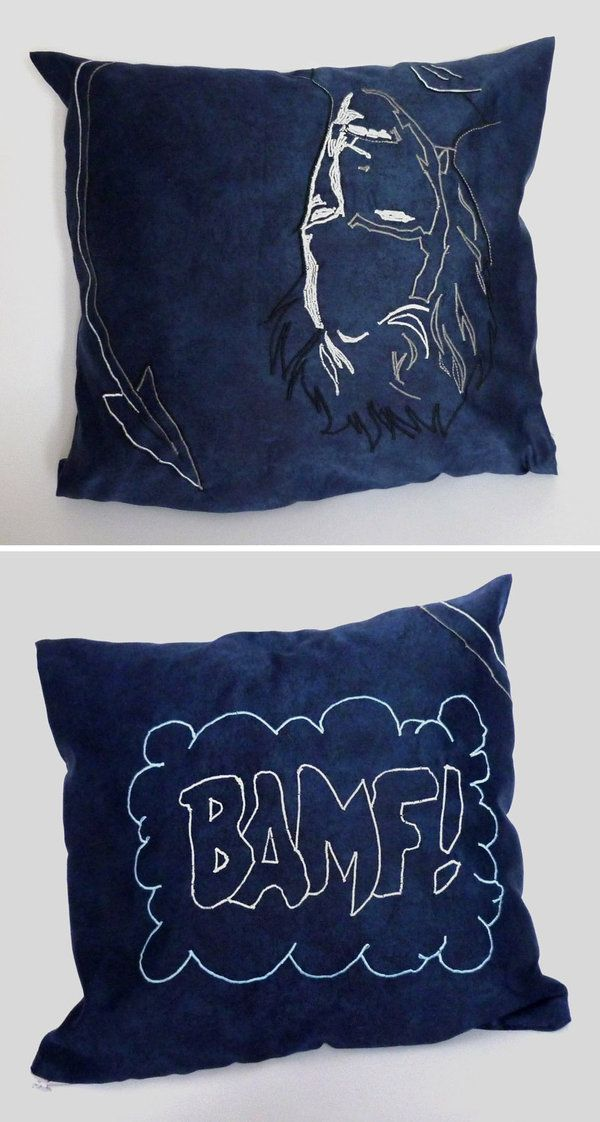 nightcrawler pillow by ~lizardberry on deviantART  I'm such a nerd lol, is it sad that I want this?
