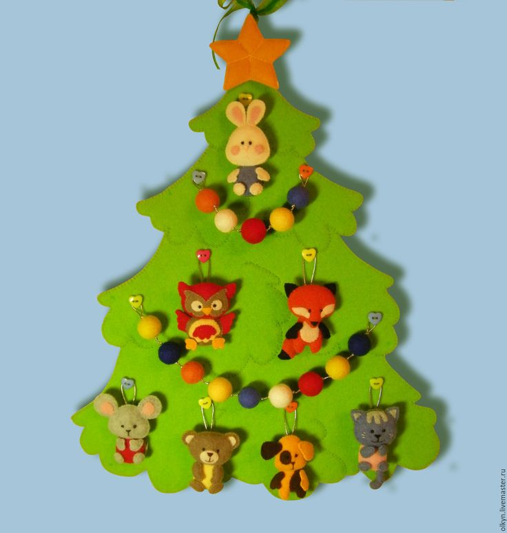 Купить Новогодняя елочка для малышей - новый год 2016, развивающая игрушка, елка новогодняя, новогодние игрушки