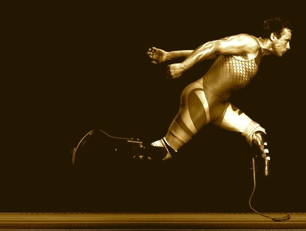 Oscar Pistorius... You must see him race, whether it's at the Olympics or the Paralympics. GO!