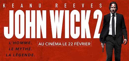 John Wick 2, Film de Chad Stahelski avec Keanu Reeves. John Wick est forcé de sortir de sa retraite à cause d'un ex-associé pour rembourser une dette.