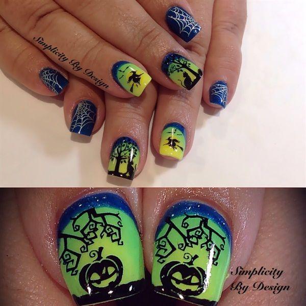 Halloween Nail Art Designs Gallery: 574 Best Images About Halloween Nail Art On Pinterest