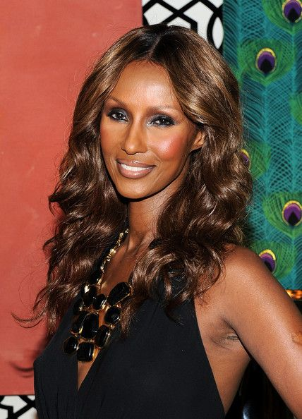 Iman Long Curls - Iman Hair Looks - StyleBistro