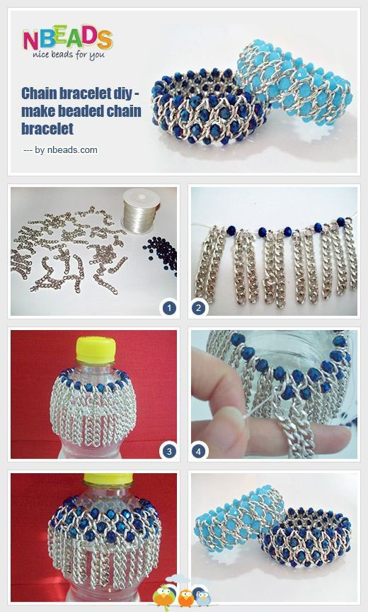Chain bracelet diy-make beaded chain bracelet