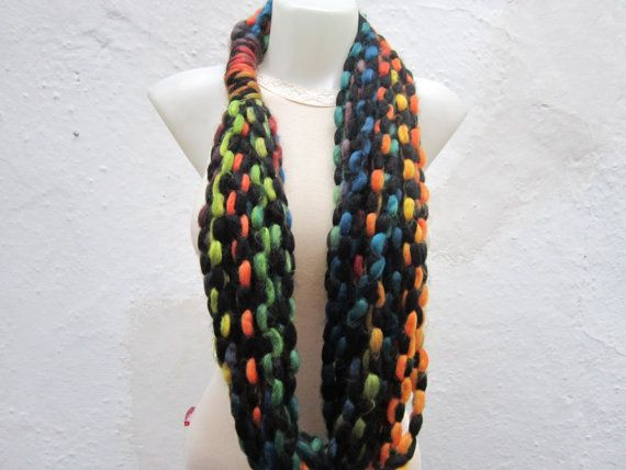 Scarf infinity  Necklace scarf  Colorful  Long  by scarfnurlu