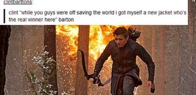 Hawkeye is feeling fabulous for his return in Avengers Age of Ultron