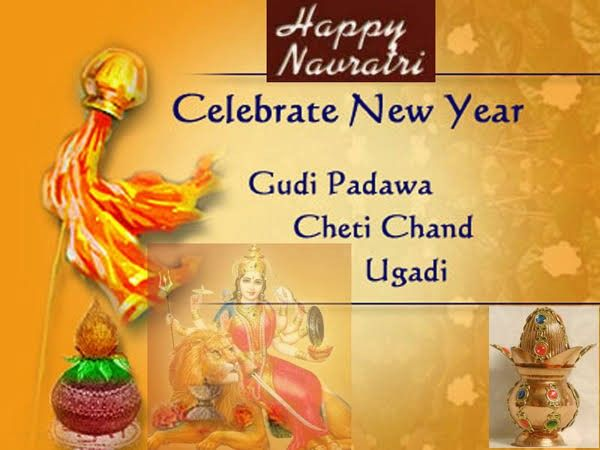 The Festival Is Celebrated On The The First Day Of The Chaitra Month According To The Hindu Calendar This Ye Hindu New Year Festivals Of India Happy Navratri