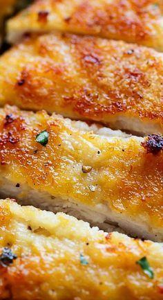Crispy Sheet Pan Lemon Parmesan Garlic Chicken & Veggies (Milanese)