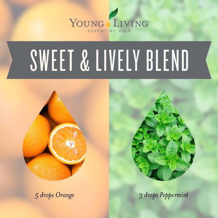 Sweet & Lively Blend combines 5 drops orange essential oil and 3 drops peppermint essential oil. Diffuse and ahhhh... ~ Click for more blends.