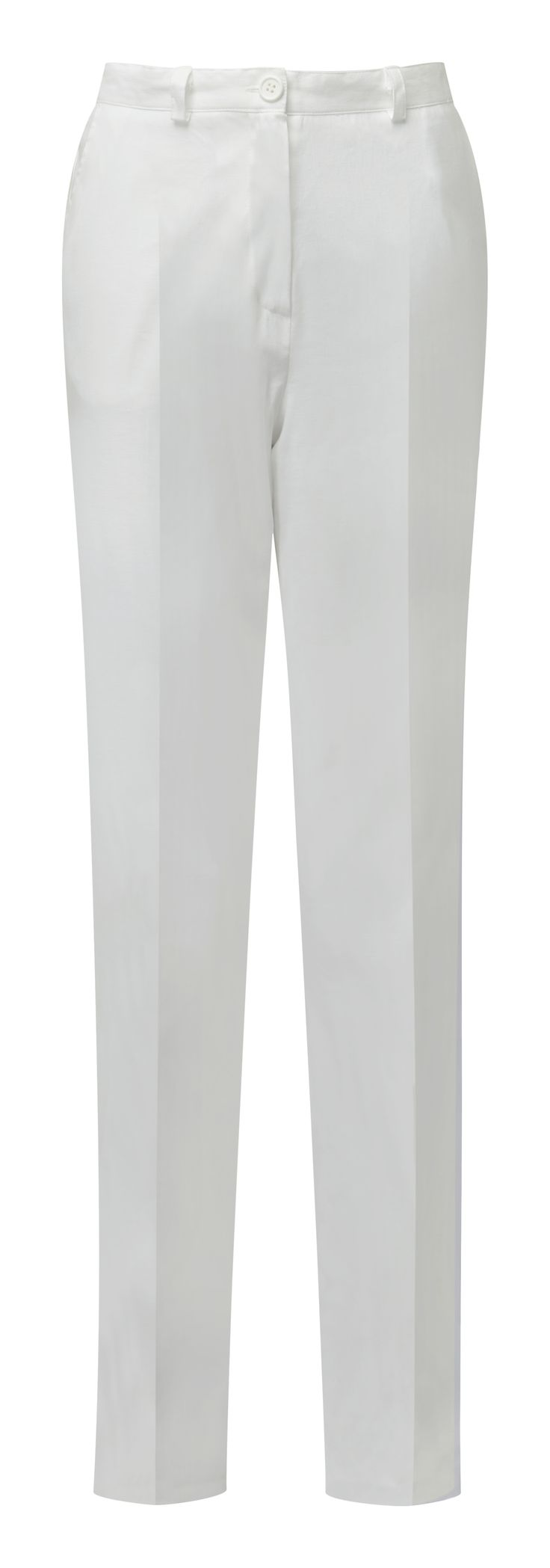 Linen Mix Trousers - Ref :  K170X  Stylish linen blend trousers for dressed up elegance. With a hint of elastication at the waist and crease front detail, they feel and look great. A touch of stretch in the fabric ensures they look smart all day long.