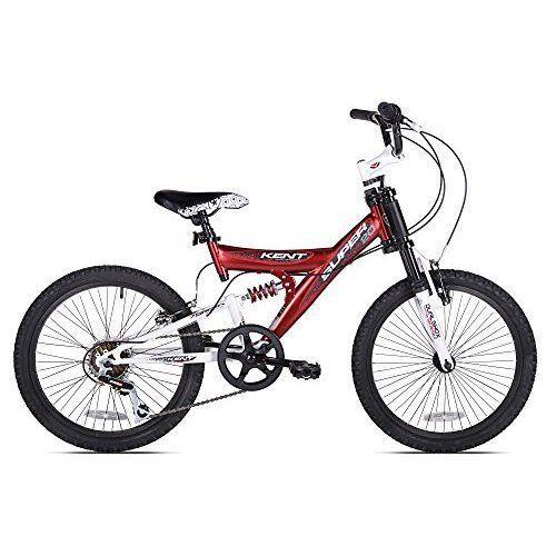 Boys Mountain Bike Dual Suspension Steel Frame 20 inch Wheels Bicycle Red Tough #Kent