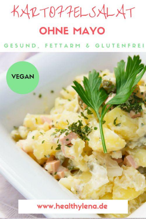 Veganer Kartoffelsalat ohne Mayo fettarm glutenfrei