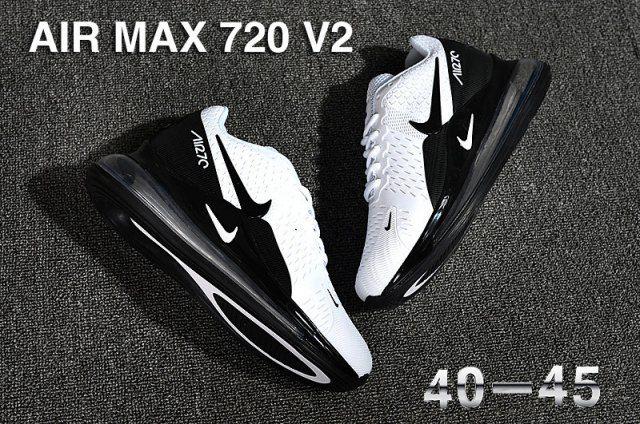 New Nike Air Max 270 Triple White Running Shoes AH8050 101 Vapormax 720 Mens