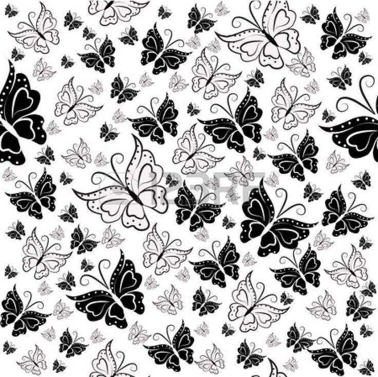Mejores 48 im genes de papel deco blanco y negro en for Corredor deco blanco y negro