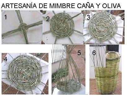 artesana del olivo - Como Hacer Cestos De Mimbre