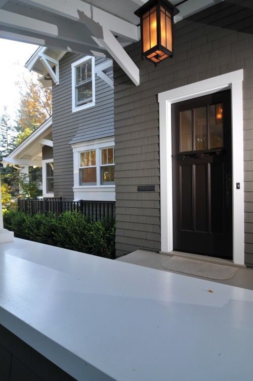 Other color scheme black fencing looks nice with siding - Trim colors for white house ...