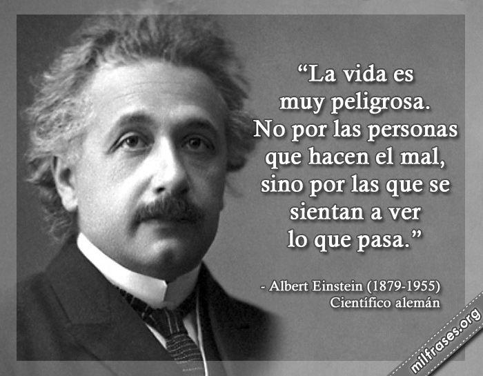 Albert Einstein, Científico alemán.