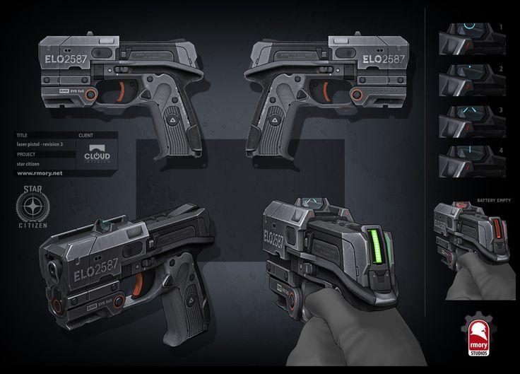 Star Citizen - laser pistol, Kris Thaler on ArtStation at https://www.artstation.com/artwork/star-citizen-laser-pistol