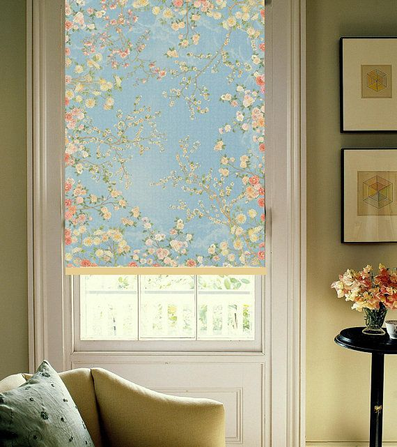 Romantic Floral Printed Fresco Wall Art Technique Custom Made Fl19 Window Roller Blind Verticalblindsideas Blinds Design Window Roller Blinds Kitchen Blinds