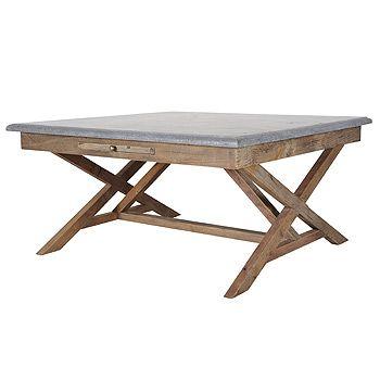 Bluestone And Reclaimed Wood Coffee Table