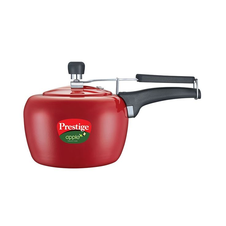 1 PIECE OF PRESTIGE 3 LITRE GAS&INDUCTION BASE APPLE PLUS RED COLOUR PRESSURE COOKER