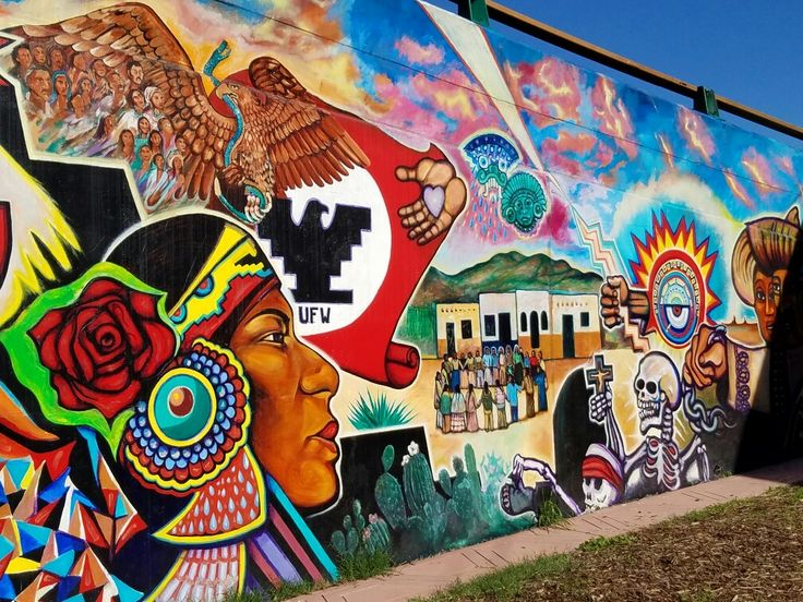 See the murals in Chicano Park in San Diego