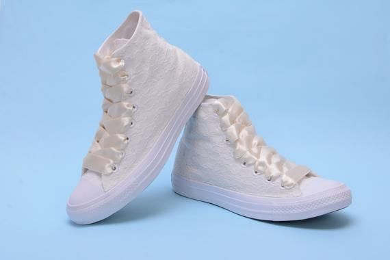 huge discount 28a17 41688 Custom Wedding Converse shoes High Top, Bridal Converse high ...