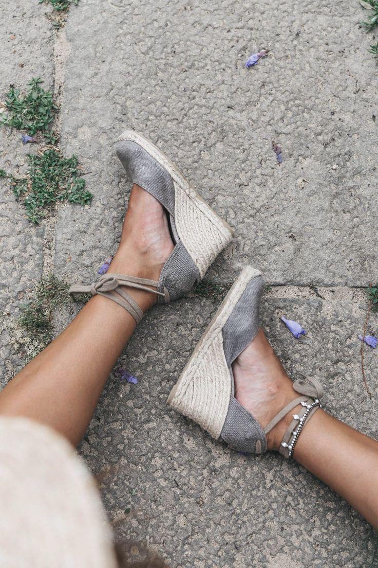 Gray espadrilles