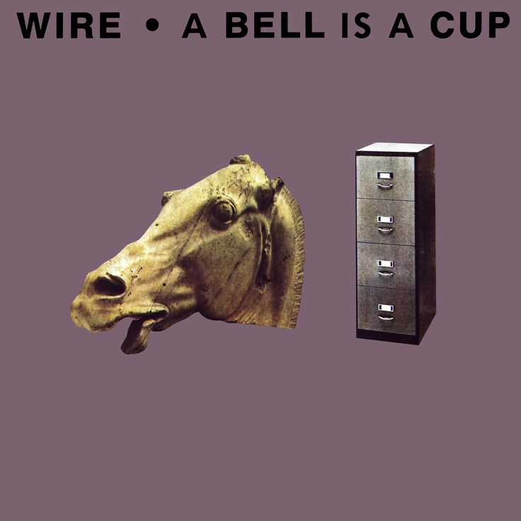 Wire 'A Bell Is a Cup Until It Is Struck', Mute Records, 1987. Designed by Slim Smith.