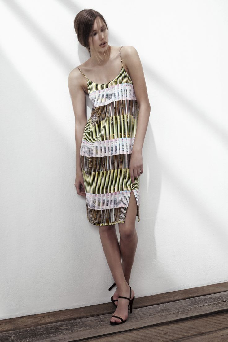 POLLY SILK MIX DRESS IN PRAYER PRINT. www.fallwinterspringsummer.com