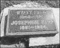 Wyatt Earp was laid to rest in Hills of Eternity Cemetery, a Jewish cemetery just south of San Francisco.