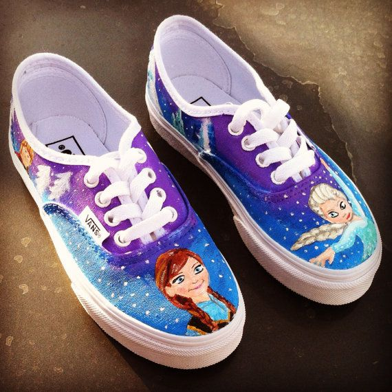 Disney Frozen Vans Toddler Shoes On Etsy 8000 Frozen