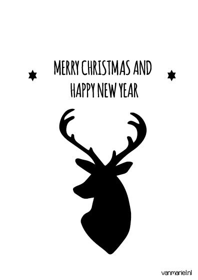 Merry #Christmas and happy new year - #Deer - #Quotes - Buy it at www.vanmariel.nl - Poster € 3,95 - Card € 1,25