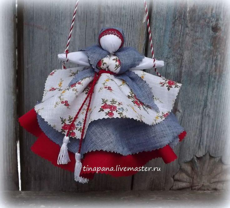 """Купить """"Колокольчик"""" - кукла-оберег, колокольчик, народная кукла, ручная работа, натуральные ткани"""