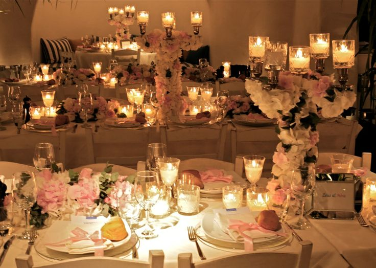 The overall impression of the dinner tables!