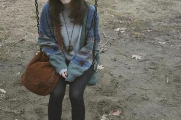 jacket retro bag sweater cardigan grunge tumblr cold fall outfits adorable must have grunge pale