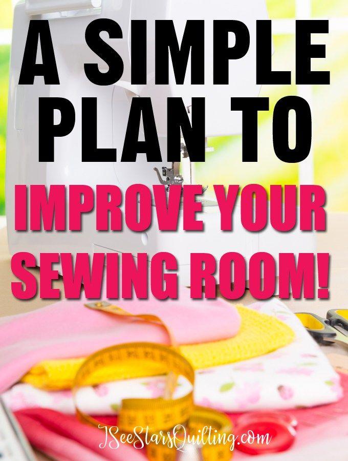 Ein einfacher Plan zur Verbesserung Ihres Nähzimmers   – Quilt Studios Craft Rooms