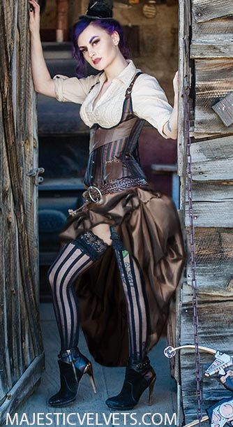 brown-black-striped-steampunk-corset-with-ruffled-taffeta-skirt-4-week-wait-23.gif